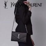 YSL 360452-02 人氣熱銷經典時尚款SAINT LAURENT系列原版皮信封包
