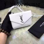YSL 425713-3 時尚潮流新款白色原版小牛皮單肩斜挎包