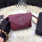 YSL 425713-2 時尚潮流新款紅色原版小牛皮單肩斜挎包