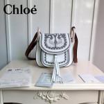 CHLOE 015 潮流時尚新款Hudson系列原版平滑小牛皮配磨砂內裡流蘇包