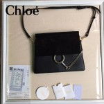 CHLOE 09-4 時尚高圓圓同款Faye黑色原版皮單肩斜挎包