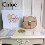 CHLOE 07-2 明星張歆藝同款drew bag裸粉色原版皮鏈條小號小豬包