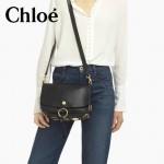 CHLOE 014 潮流時尚新款原版進口牛皮黑色單肩斜跨馬鞍包