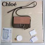 CHLOE 04-6 明星高圓圓同款faye灰色原版皮中號單肩斜挎包