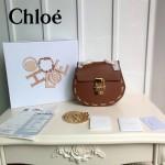 CHLOE 07-3 明星張歆藝同款drew bag土黃色原版皮鏈條小號小豬包