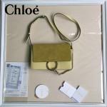 CHLOE 04-5 明星高圓圓同款faye黃色原版皮中號單肩斜挎包