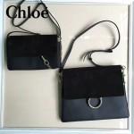 CHLOE 04-3 明星高圓圓同款faye黑色原版皮中號單肩斜挎包