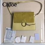 CHLOE 09-3 時尚高圓圓同款Faye黃色原版皮單肩斜挎包