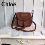 CHLOE 015-03 潮流時尚新款Hudson系列原版平滑小牛皮配磨砂內裡流蘇包