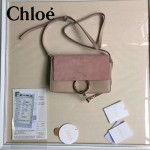 CHLOE 04-7 明星高圓圓同款faye裸粉色原版皮中號單肩斜挎包