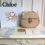 CHLOE 08-2 明星劉雯同款drew bag裸粉色原版皮鏈條中號小豬包