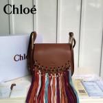 CHLOE 016 潮流時尚新款Hudson系列原版平滑小牛皮配磨砂內裡流蘇包
