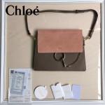 CHLOE 09-5 時尚高圓圓同款Faye灰色原版皮單肩斜挎包