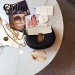 CHLOE 019-14 時尚經典款女士黑白拼色原版皮小號鏈條小豬包
