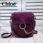CHLOE 023 潮流時尚新款Faye backpack系列原版皮南非小牛皮俏皮雙肩背包