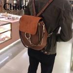 CHLOE 023-03 潮流時尚新款Faye backpack系列原版皮南非小牛皮俏皮雙肩背包
