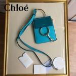 CHLOE 018-3 歐美潮流爆款Faye孔雀藍原版皮單肩斜挎包手機包