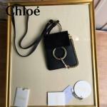 CHLOE 018-2 歐美潮流爆款Faye黑色原版皮單肩斜挎包手機包