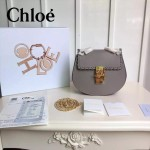 CHLOE 019-3 時尚經典款女士編織灰色原版皮小號鏈條小豬包