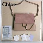 CHLOE 09-6 時尚高圓圓同款Faye裸粉色原版皮單肩斜挎包