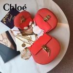 CHLOE 019-12 時尚經典款女士西瓜紅原版皮小號鏈條小豬包