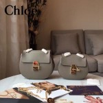 CHLOE 019-8 時尚經典款女士灰色原版皮小號鏈條小豬包