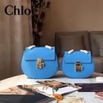 CHLOE 019-11 時尚經典款女士藍色原版皮小號鏈條小豬包
