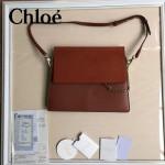 CHLOE 09-8 時尚高圓圓同款Faye棕紅色原版皮單肩斜挎包
