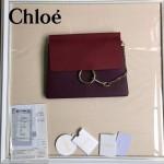 CHLOE 09-9 時尚高圓圓同款Faye紫色原版皮單肩斜挎包