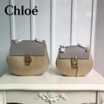 CHLOE 019 時尚經典款女士香檳金原版皮小號鏈條小豬包
