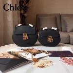 CHLOE 019-10 時尚經典款女士黑色原版皮小號鏈條小豬包