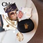CHLOE 019-13 時尚經典款女士黑色原版皮小號鏈條小豬包