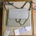 CHLOE 09-10 時尚高圓圓同款Faye卡其色原版皮單肩斜挎包