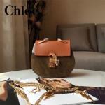 CHLOE 019-4 時尚經典款女士土黃色原版皮小號鏈條小豬包