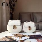CHLOE 019-7 時尚經典款女士白色原版皮小號鏈條小豬包
