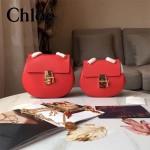 CHLOE 019-6 時尚經典款女士紅色原版皮小號鏈條小豬包