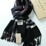 Lvaaa.tw-04-5 巴寶莉人氣經典款黑色格子純山羊絨長款圍巾