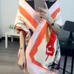 Dior圍巾-04-01 人氣熱銷時尚新款精致數碼噴繪羊絨制成時髦女士圍巾披肩