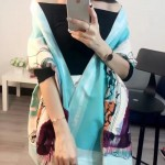Dior圍巾-04-02 人氣熱銷時尚新款精致數碼噴繪羊絨制成時髦女士圍巾披肩
