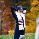 THOM BROWNE圍巾-01 2016秋冬走秀款美麗奴羊毛經典的四條桿男女式通用圍巾