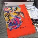 CHANEL-02 香奈兒時尚走秀款女士橙色羊絨長款圍巾
