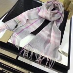 Lvaaa.tw-013-2 巴寶莉專櫃經典款粉色水波紋羊絨長款圍巾