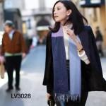 LV圍巾-12 人氣熱銷高圓圓趙薇同款山羊絨面料幾何圖形LV刺繡LOGO方巾