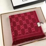 GUCCI圍巾-17-04 人氣熱銷時尚經典款GUCCI大提花頂級絲羊毛方巾