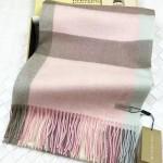 Lvaaa.tw-011-5 巴寶莉經典款粉色大格子羊絨披肩圍巾