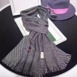 GUCCI圍巾-16-01 潮流時尚新款羊絨單色編織小蜜蜂系列男女式通用圍巾
