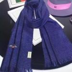 GUCCI圍巾-16-02 潮流時尚新款羊絨單色編織小蜜蜂系列男女式通用圍巾