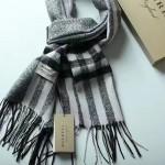Lvaaa.tw-07-3 巴寶莉經典款黑色格子交織金線純羊絨長款圍巾