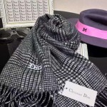 Dior圍巾-03-01 潮流時尚走秀款黃曉明同款羊絨加羊毛淺灰色男士圍巾