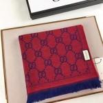 GUCCI圍巾-17-06 人氣熱銷時尚經典款GUCCI大提花頂級絲羊毛方巾